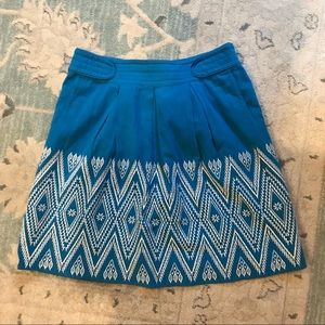 Anthropologie Floreat Winston Blue Skirt, Size 10